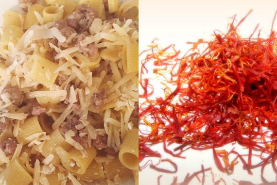 Saffron Pasta with sausage recipe