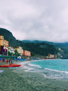 Weekend in Monterosso Cinque Terre cloudy beach