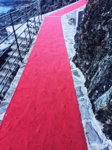L'Agave restaurant Framura red carpet