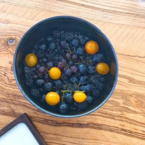 Mirazur restaurant Concord grapes
