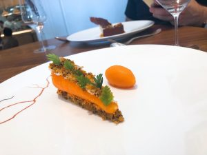 Core restaurant London Clare Smyth carrot cake
