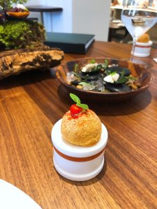 Core restaurant London Clare Smyth tomato gougere