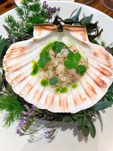Core restaurant London Clare Smyth scallop tartare