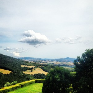The view from Castello di Vicarello. Thanks for a memorable day, Aurora!