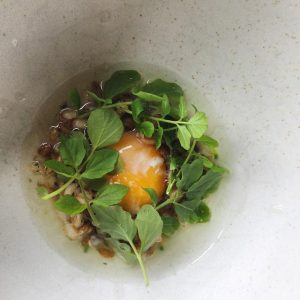 egg-yolk-fermented-grains-green-garlicand-monkfish-head-broth-best-restaurants-in-Copenhagen