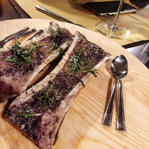 bone marrow at Trippa restaurant in Milan