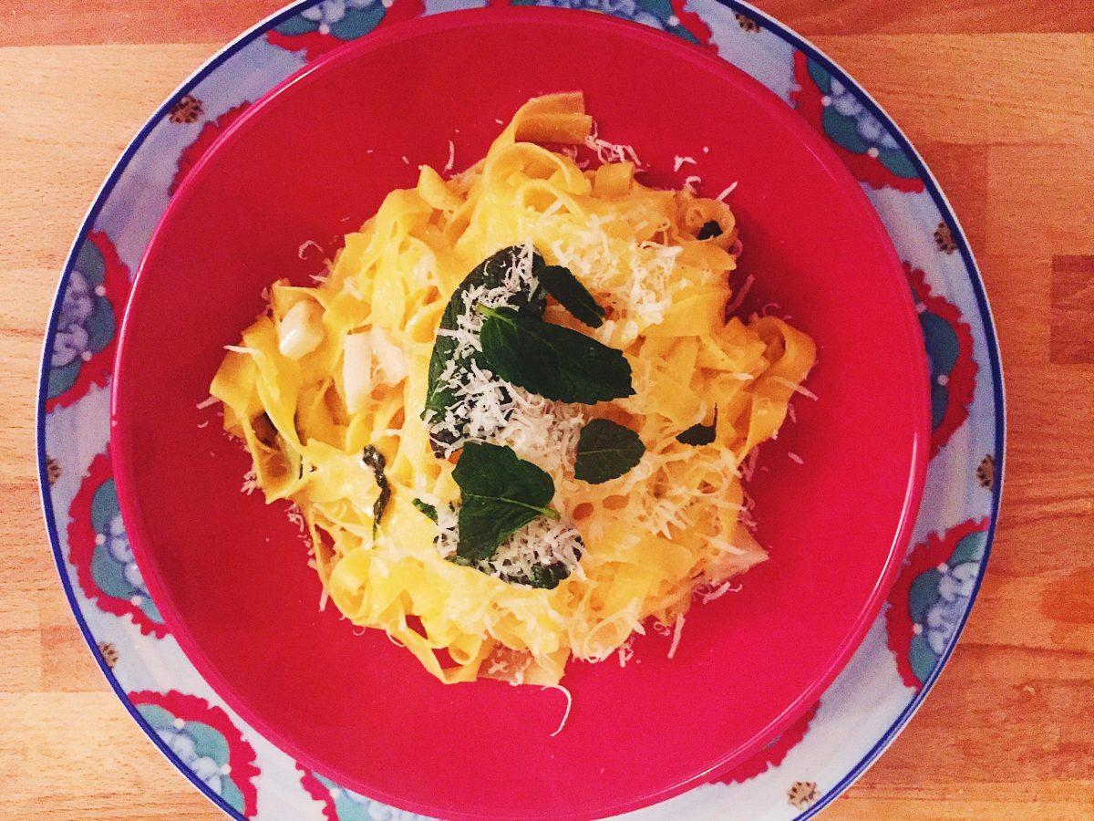 lemon pasta with parmigiano recipe from spazio a