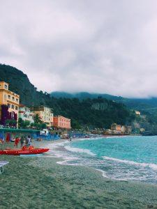 Weekend in Monterosso Cinque Terre cloudy beach