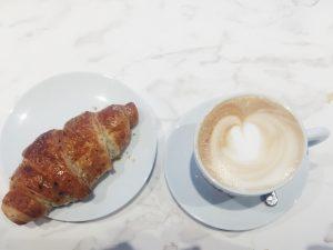 Illy Caffè Flagship Montenapoleone Milan brioche and cappuccino