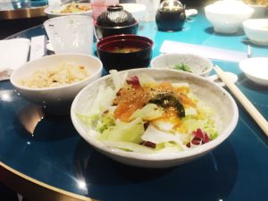 Nishiki Sushi Restaurant Milan lunch dishesl