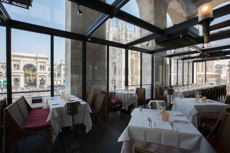 Giacomo Restaurant Milan loggia
