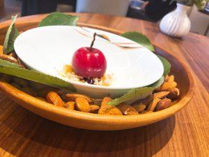 Core restaurant London Clare Smyth cherry almond dessert